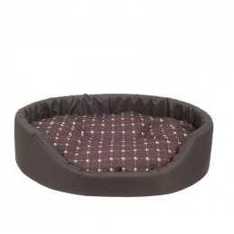 Guļvieta suņiem – AmiPlay Oval bedding Fun L, 58 x 50 x 15 cm, brown