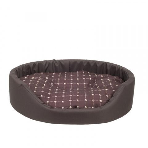 Guļvieta suņiem - AmiPlay Oval bedding Fun S, 46 x 38 x 13 cm, brown title=