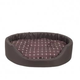 Guļvieta suņiem - AmiPlay Oval bedding Fun XS, 40 x 32 x 12 cm, brown