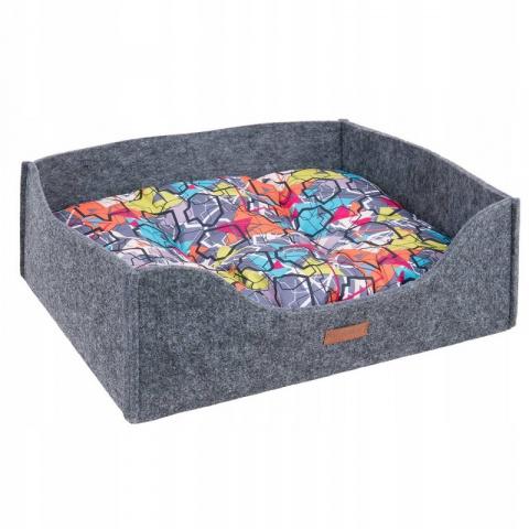 Guļvieta suņiem - AmiPlay Sofa 2 in 1 Hygge L, 60 x 48 x 18 cm, grey title=