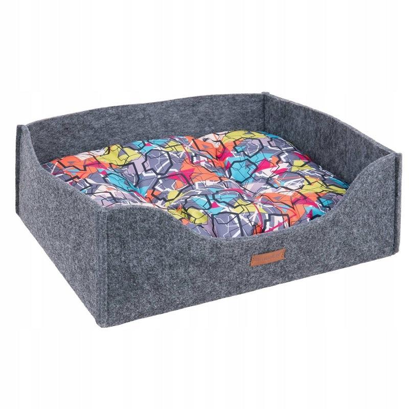 Guļvieta suņiem - AmiPlay Sofa 2 in 1 Hygge S, 41 x 33 x 14 cm, grey