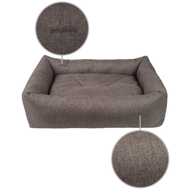 Guļvieta suņiem – AmiPlay Sofa Palermo XL, 90 x 72 x 22 cm, brown