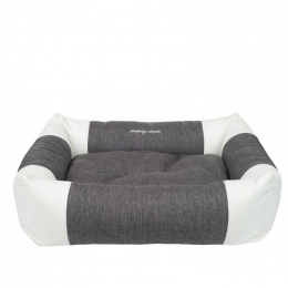 Guļvieta suņiem - AmiPlay Sofa ZipClean 2 in 1 Classic L, 78 x 64 x 19 cm, dark grey