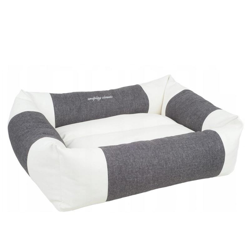 Спальное место для собак - AmiPlay Sofa ZipClean 2 in 1 Classic L, 78 x 64 x 19 см, dark grey