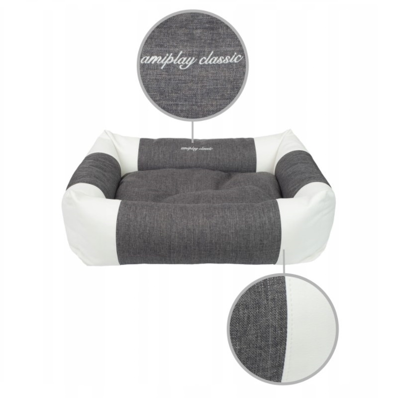 Лежанка для собак – AmiPlay Sofa ZipClean 2 in 1 Classic L, 78 x 64 x 19 см, dark grey