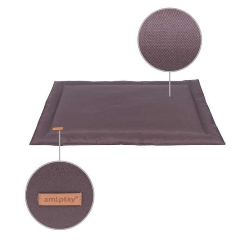 Guļvieta suņiem - AmiPlay Waterproof Mat Country XL, 100 x 70 cm, brown