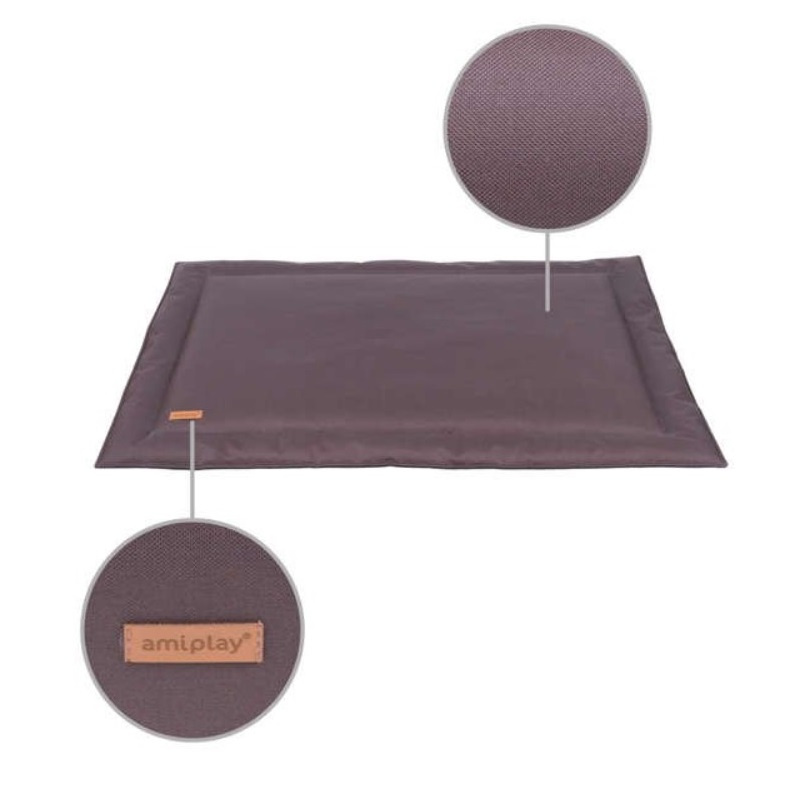 Спальное место для собак - AmiPlay Waterproof Mat Country XXXL, 140 x 95 см, brown