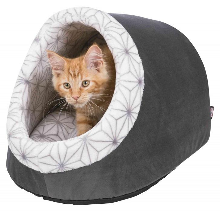 Лежанка для кошек – TRIXIE Diamond Cuddly Cave, 35 x 26 x 40 см