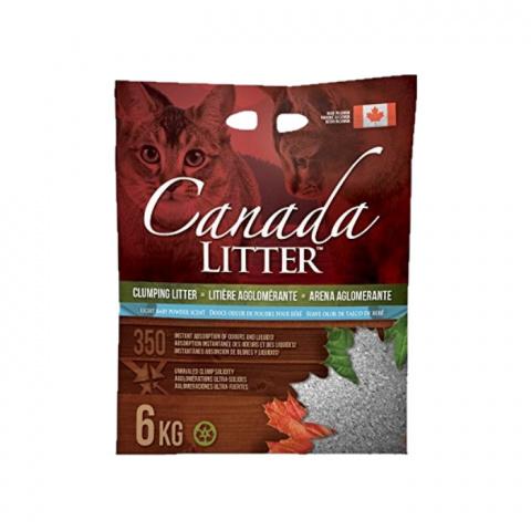 Цементирующий песок для кошачьего туалета - Canada Litter, 6 кг title=