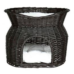 Домик для кошек – TRIXIE Wicker Cave with Bed on Top, 54 x 43 x 37 см, Black