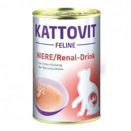 Veterinārie konservi kaķiem – Kattovit Drink Kidney/Renal, 135 ml