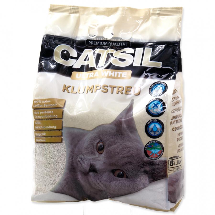 Cementējošās smiltis kaķu tualetei - CatSil, 8 L