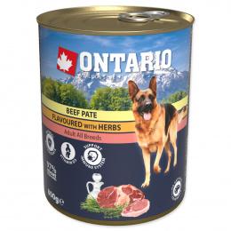 Консервы для собак – Ontario Adult Beef Pate with Herbs, 800 г
