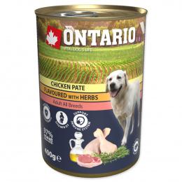 Консервы для собак – Ontario Adult Chicken Pate with Herbs, 400 г