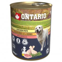 Консервы для собак – Ontario Adult Chicken Pate with Herbs, 800 г
