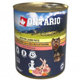 Консервы для собак – Ontario Adult Lamb Pate with Sea Buckthorn, 800 г