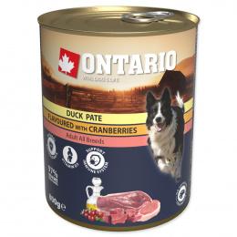 Консервы для собак – Ontario Adult Duck Pate with Cranberries, 800 г