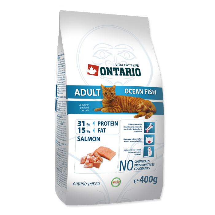 Barība kaķiem - Ontario Adult Ocean Fish, 400 g