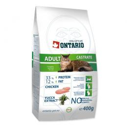 Barība kaķiem - Ontario Castrate, 400 g