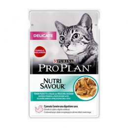 Консервы для кошек – PRO PLAN DELICATE с морской рыбой, 85 г