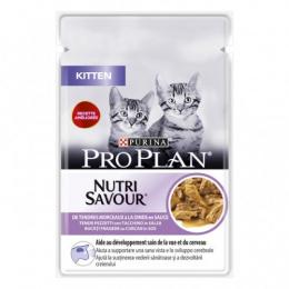 Konservi kaķēniem – PRO PLAN KITTEN ar tītara gaļu, 85 g