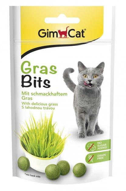 Лакомство для кошек - GimCat GrasBits, 50 г title=