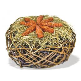 Лакомство для грызунов – JR Carrot Hay Nest 150 г