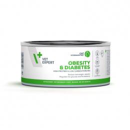 Ветеринарные консервы для кошек - VetExpert 4T VD OBESITY AND DIABETES, 100 г
