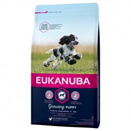 Barība kucēniem - Eukanuba Puppy and Junior Medium Breed, 2 kg
