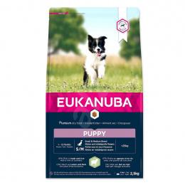 Корм для щенков - Eukanuba Puppy Small and Medium Breed, Lamb and Rice, 2,5 кг
