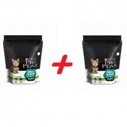 Barība kucēniem - Pro Plan Small and Mini Puppy Chicken, 700 g + 700 g