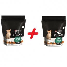 Barība suņiem - Pro Plan Small and Mini Adult ar vistu, 700 g + 700 g