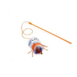 Rotaļlieta kaķiem – AFP Furry Ball Fluffer Wand, orange