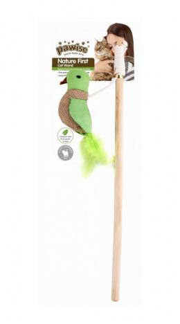 Игрушка для кошек – Pawise nature first cat wand, Bird