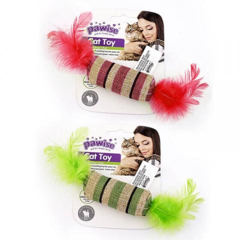 Rotaļlieta kaķiem – Pawise Striped Cat Toy, Candy title=