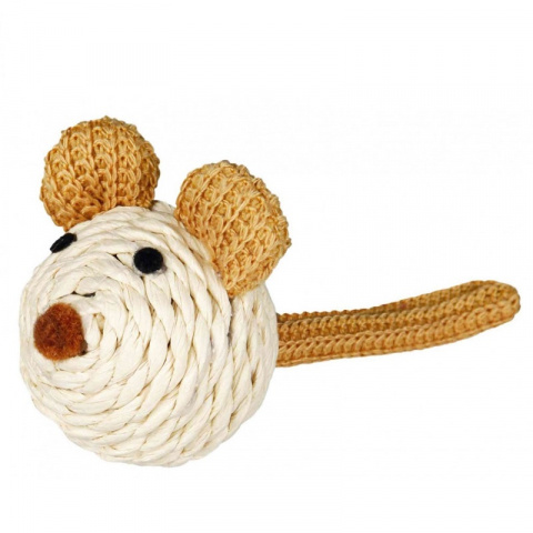 Игрушка для кошек - Trixie Mouse, paper yarn, 5 см title=