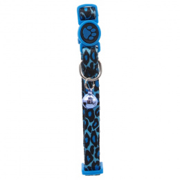 Kakla siksna kaķiem – ACTIV CAT, Collar Nylon XS, 1 x 19–31 cm, Leopard Blue