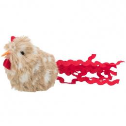 Игрушка для кошек - Trixie Rooster with feathers, plush, 8 см