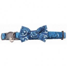Kakla siksna kaķiem – Pawise Cat Collar Bowknot, Blue