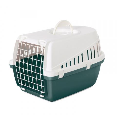 Transportēšanas bokss dzīvniekiem – Savic, Trotter 1, Nordic green - white, 49 x 33 x 30 cm title=
