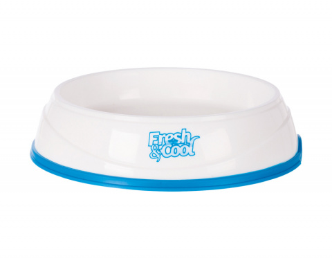 Ūdeni atvēsinoša bļoda – Cool Fresh Cooling Bowl for Cats, 0,25 l, 12 cm, White/Blue title=