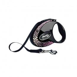 Поводок-рулетка – Flexi Glam Composition S 3 м, Tape, onyx-black