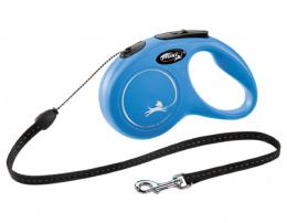 Inerces pavada suņiem – Flexi New Classic Cord Leashes S 5 m, Blue