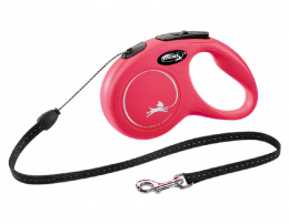 Inerces pavada suņiem – Flexi New Classic Cord Leashes S 5 m, Red