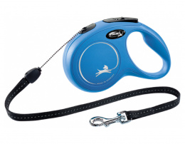 Поводок-рулетка для собак – Flexi New Classic Cord Leashes S 8 м, Blue