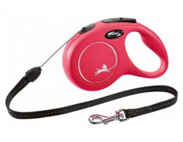 Поводок-рулетка для собак – Flexi New Classic Cord Leashes S 8 м, Red