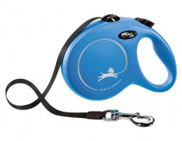 Inerces pavada suņiem – Flexi New Classic Tape Leashes L 5 m, Blue