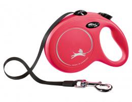 Inerces pavada suņiem – Flexi New Classic Tape Leashes L 5 m, Red