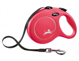 Inerces pavada suņiem – Flexi New Classic Tape Leashes L 8 m, Red