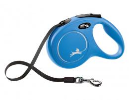 Inerces pavada suņiem - Flexi New Classic Tape Leashes M 5 m, Blue